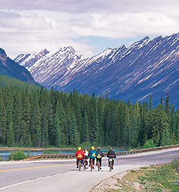 Biking in Jasper National Park